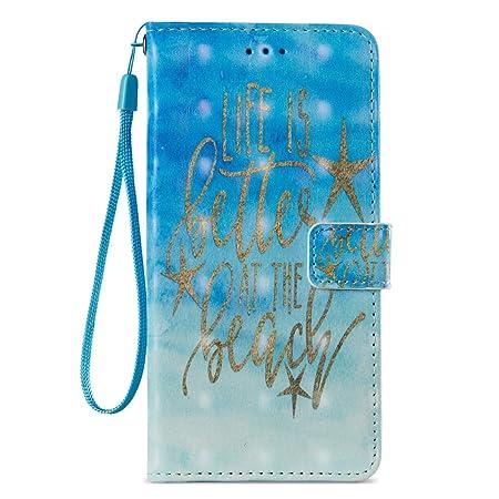 Amazon.com : iPhone 7 Plus Case/iPhone 8 Plus Case, Durable Slim Wallet Case Cover Pu Leather Lightweight Card Holder Shock Proof Wrist Strap Kickstand Flip ...