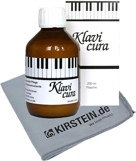 Klavicura - Abrillantador para piano (200 ml, con gamuza)