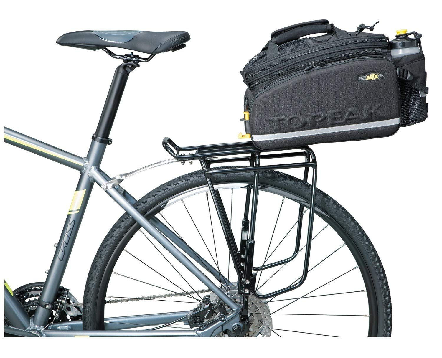 Topeak Super Tourist Tubular Bicycle Trunk Rack DX with Side Bar for Disc Brake Bikes