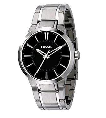 Amazon.com: Fossil Mens FS4471 Stainless Steel Bracelet Black Analog Dial Watch: Watches