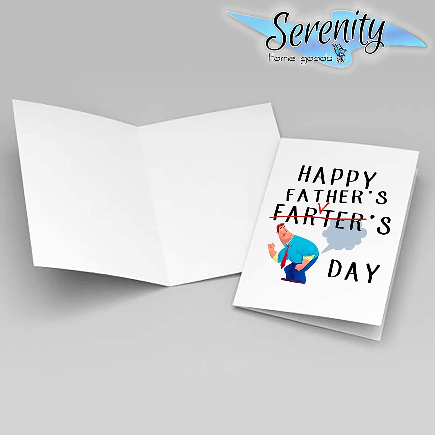 Fathers Day Gifts Card Fathers Day Present Cards Customized Personalized Printing Hilarious Happy Farters Day