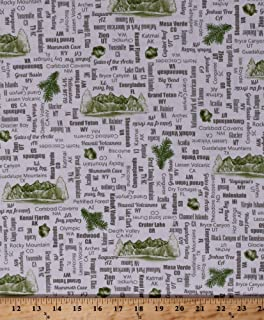 Amazon.com: Cotton Park Map Hiking Trails Camping Activities ...