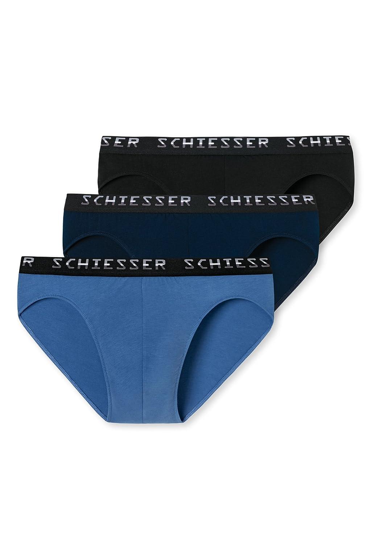Schiesser Herren Slips Rio-Slip Multipack Unterwäsche Sparpack, 3er Pack
