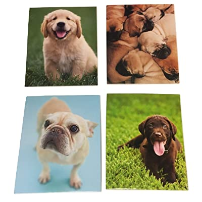 Staples Two Pocket Paper Folder ~ Set of 4 Puppy Folders (Family Naptime, Outdoor Playtime, Ready and Waiting, Patiently Waiting): Toys & Games