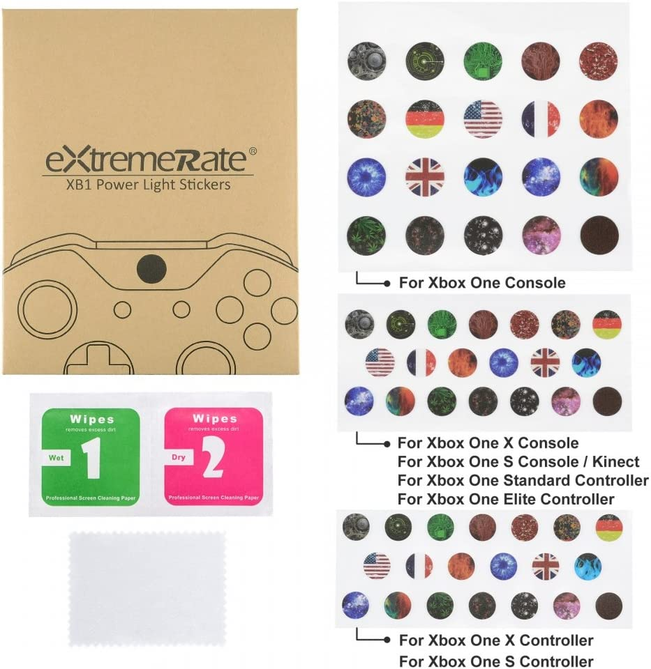 Extremerate 60 Pcs Custom Home Button Power Switch Stickers Skin Cover For Xbox One One X One S Console Kinect And Xbox One One X One S Elite Controllers Amazon Co Uk Electronics