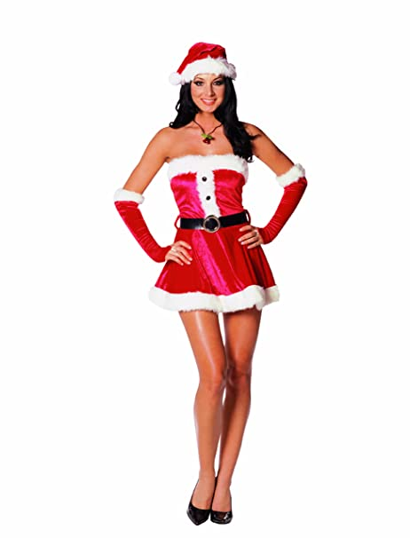 Amazon.com: Dreamgirl Sweetie de Papá Noel disfraz: Clothing