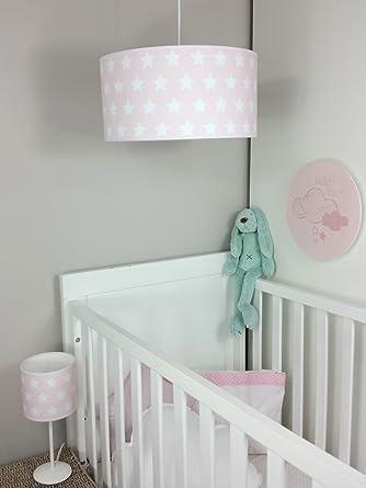 Lampara de techo infantil/Lampara colgante bebe/Lampara para habitacion infantil (Rosa)