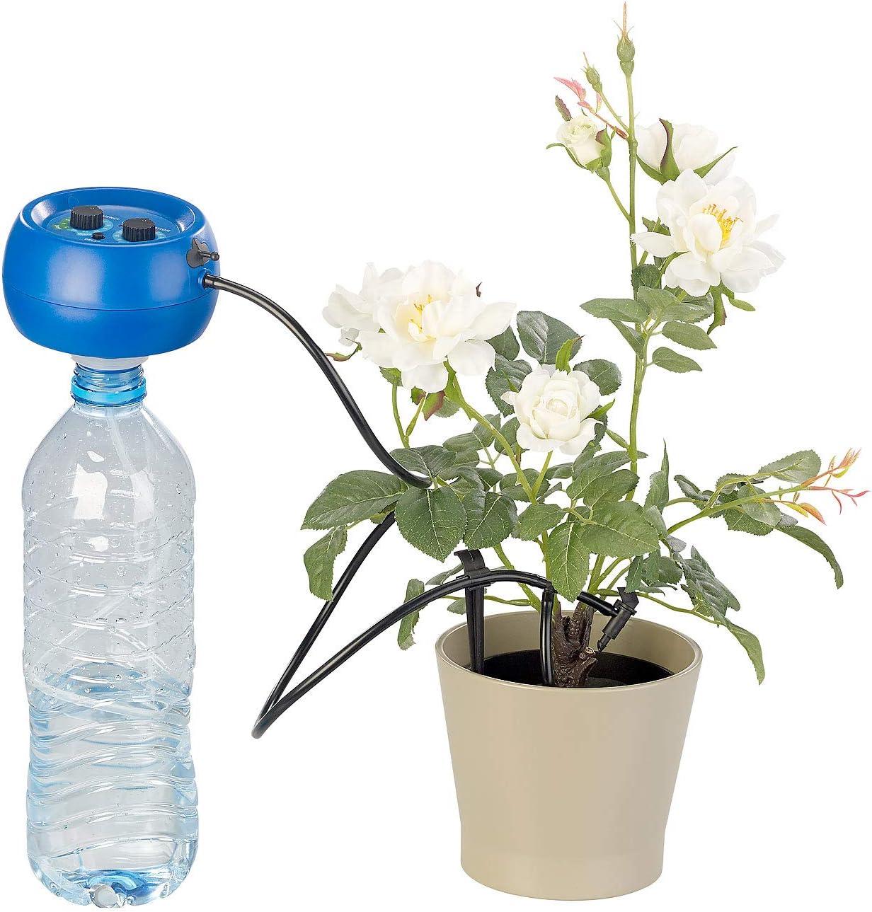 Automatische Pflanzenbew/ässerung Royal Gardineer Balkonbew/ässerung Automatische Urlaubs-Bew/ässerungsanlage f/ür 10 Zimmerpflanzen mit Akku