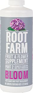 Root Farm Fruit & Flower Supplement - Liquid Nutrient for Hydroponic Plants, 32 oz