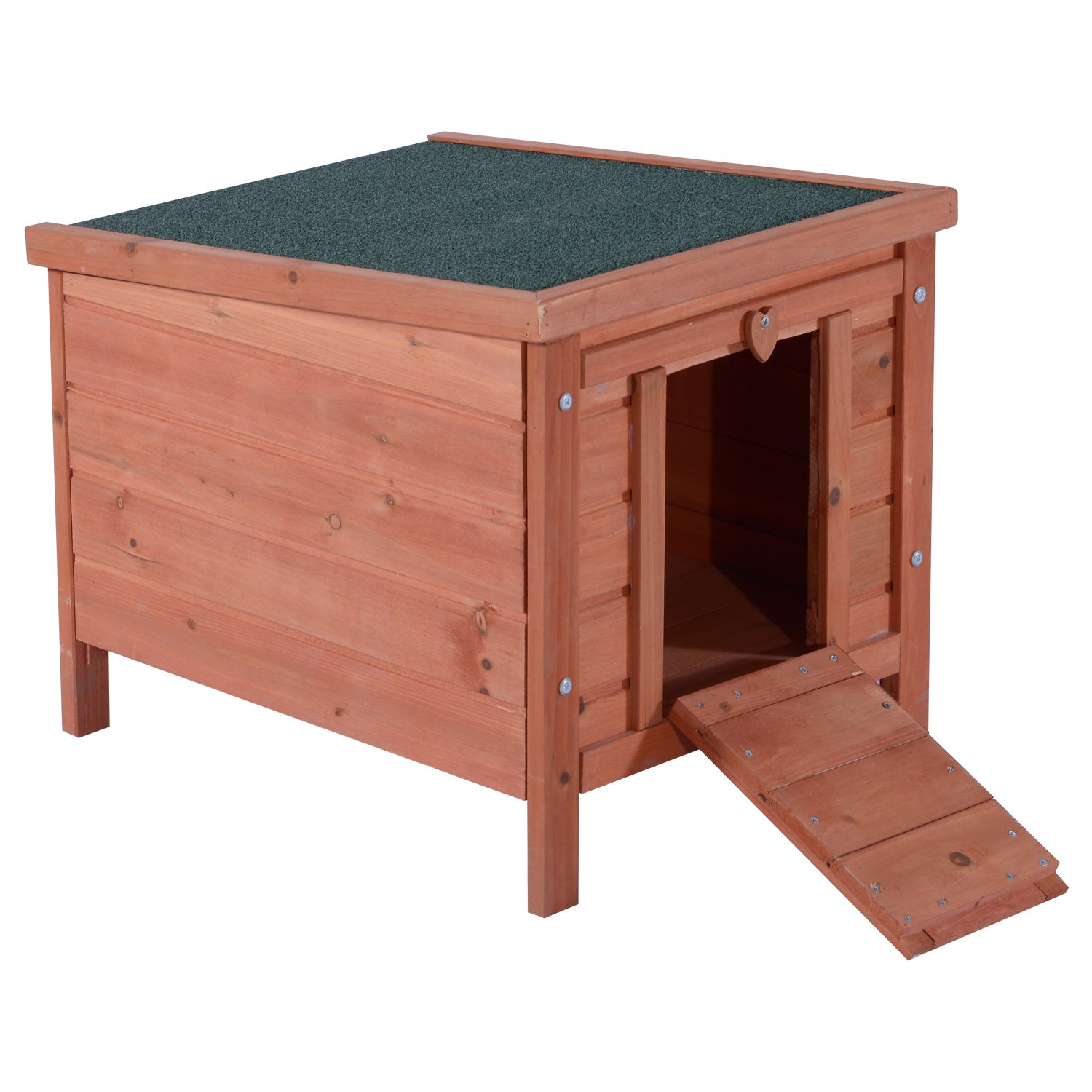 Lovupet Small Wooden Bunny Rabbit Hutch-Guinea Pig House-Small Animal House 0325