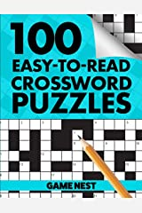 100 Easy-To-Read Crossword Puzzles: Challenge Your Brain Paperback