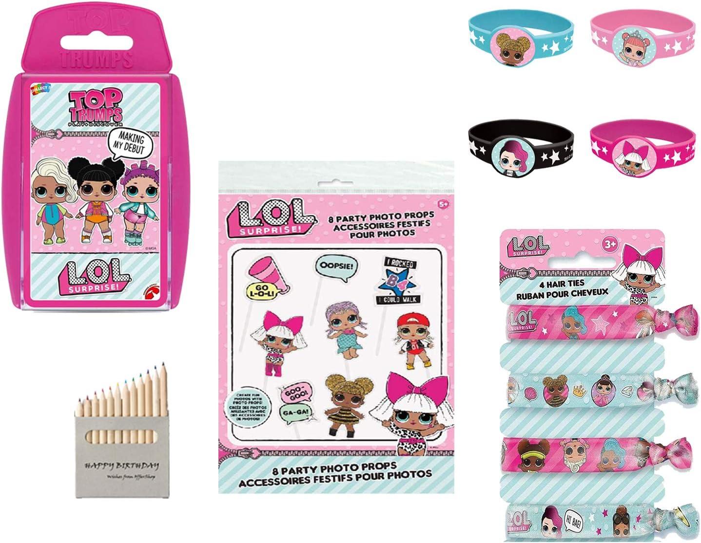 LOL Caja de Regalo para niñas Summer Toys LOL Surprise Wristband - Lazos para el Cabello - Accesorios para fotomatón - Tarjeta LOL Top Trumps: Amazon.es: Juguetes y juegos
