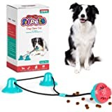 CPFK Dog Chew Double Suction Cup Tug of War Toy Pet Aggressive Chewers Rope Puzzle Toothbrush Multifunction Molar Bite…