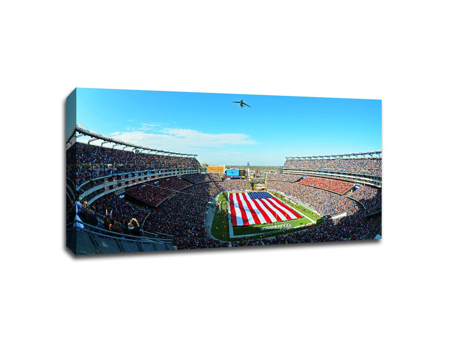 New England Patriots Gillette Stadium Gallery Wrapped Canvas 40x22