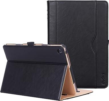 ProCase Funda con Tapa para Huawei MediaPad M5 Lite – Estuche Tipo Libro con Soporte Múltiple Ángulo/Bolsillo de Tarjeta y Documento, Funda Folio para 10.1