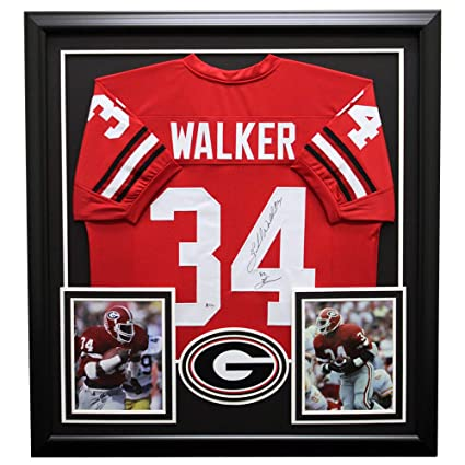 quality design e27a4 cf0a6 Herschel Walker Autographed Signed Georgia Bulldogs Framed ...