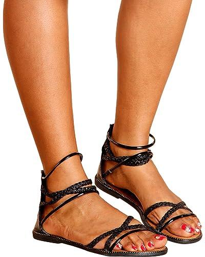 5645e771173 Forever Women s Brittany Glitter Gladiator Sandals