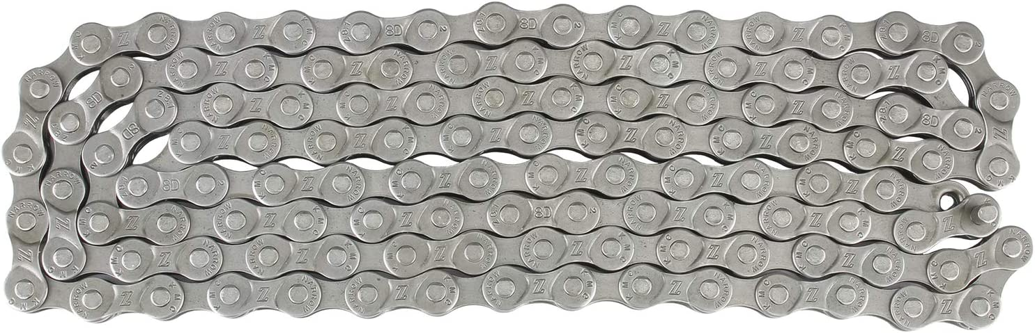 KMC X8.99 Bicycle Chain 1//2 x 3//32-Inch 116L Silver