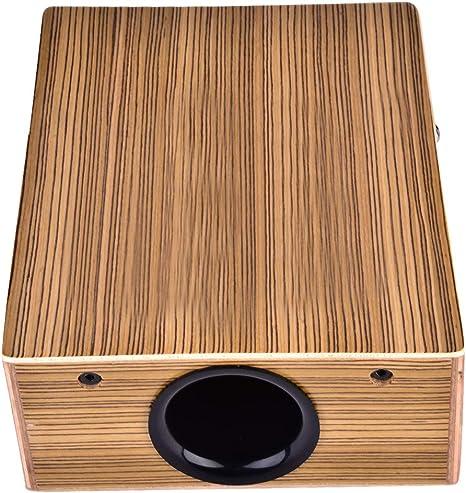 CECKO Cajón de viaje portátil, caja de madera, percusión de tambor de mano con bolsa de transporte y correa: Amazon.es: Instrumentos musicales