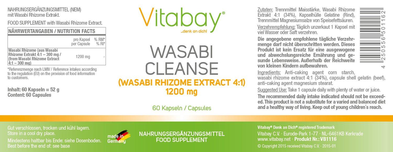 Extracto de Wasabi Cleanse - 1200 mg - dosis altas - 60 ...