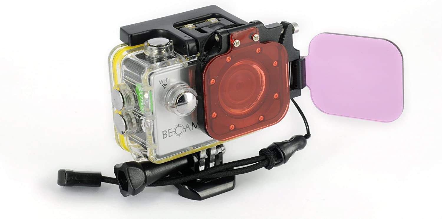 Best Divers AC028/ BECAM Action Camera Flip Filter Set