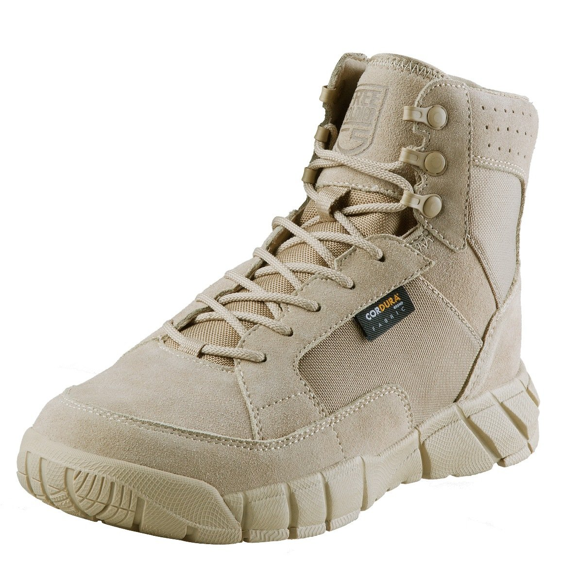 FREE SOLDIER Men's 6 inch Lightweight Boots Tactical Military Urban Composite Toe Desert Tan Boot(Sand 10.5 D(M) US)