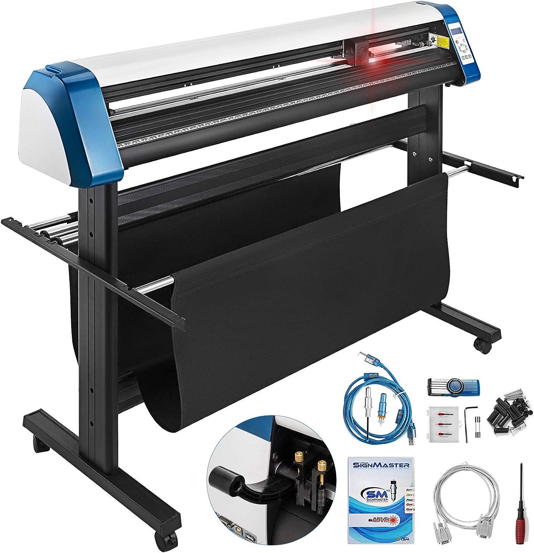 VEVOR cortador de vinilo 28/34/53 pulgadas máquina cortadora de vinilo DIY máquina cortadora de vinilo semi auto con soporte de piso y software Signmaster: Amazon.es: Electrónica