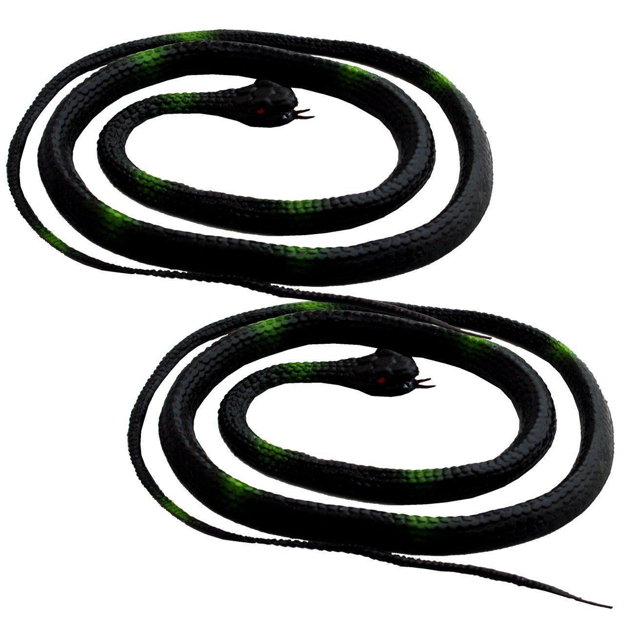 2 x Schlange 1 Meter lang Deko Gummischlange Gummi Partygag Scherzartikel Noname