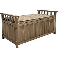 Gardeon Outdoor Bench Sets Garden Storage Box Wooden Heavy Duty Waterproof Indoor Hallway Entryway-Brown