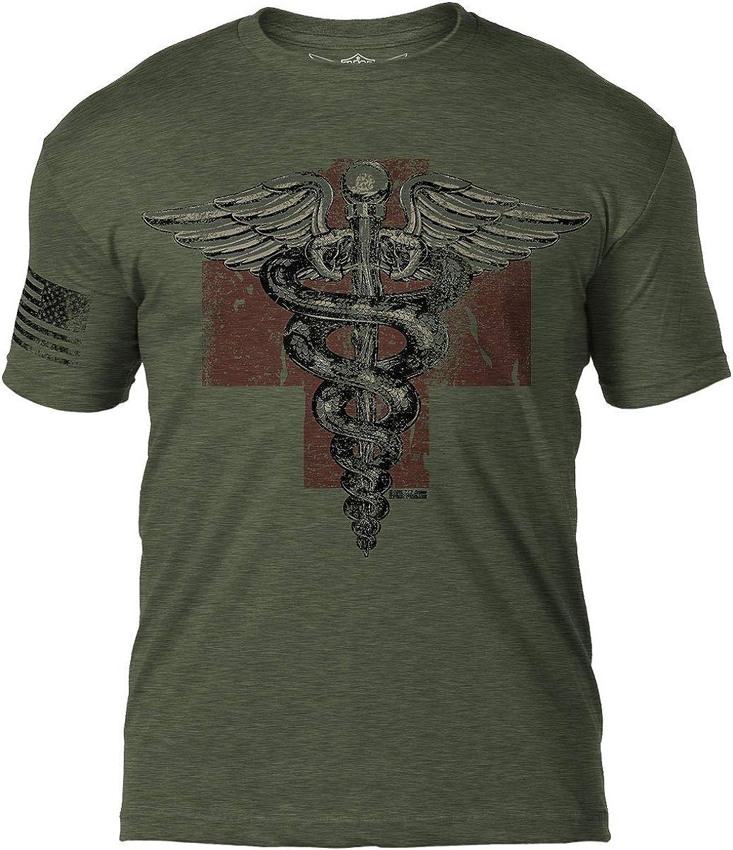 7.62 Design Medic Vintage Logo Heather Military Green