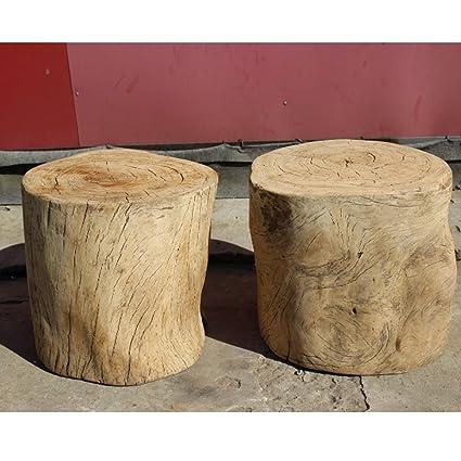 Tree stump furniture Metal Leg Image Unavailable Neiman Marcus Amazoncom Old Wood Stump Stool Side Table Kitchen Dining