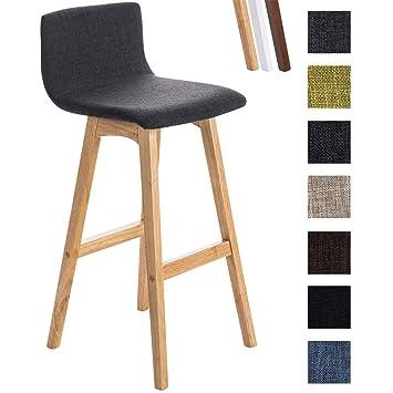 Sitzhöhe Barhocker amazon de clp barhocker taunus mit stoffbezug und hochwertiger