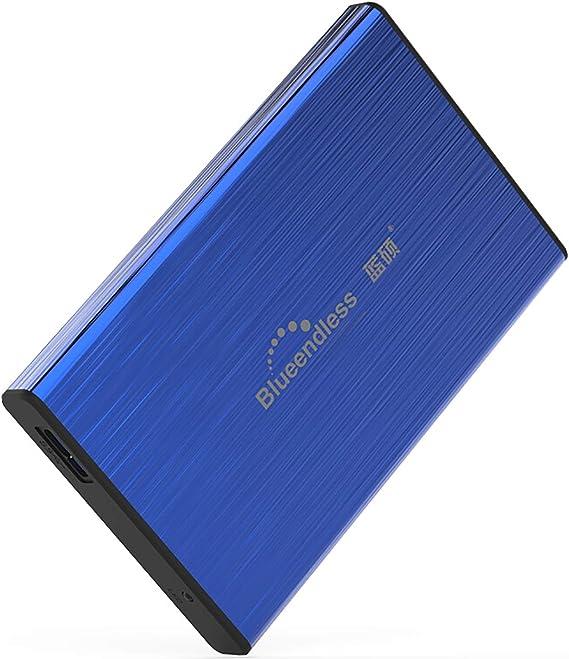 ポータブル外付けハードドライブ、ハードドライブ外付け超薄型外付けHDD外付けUSB 3.0ハードドライブ(Mac PCおよびラップトップ用),ブルー,250GB