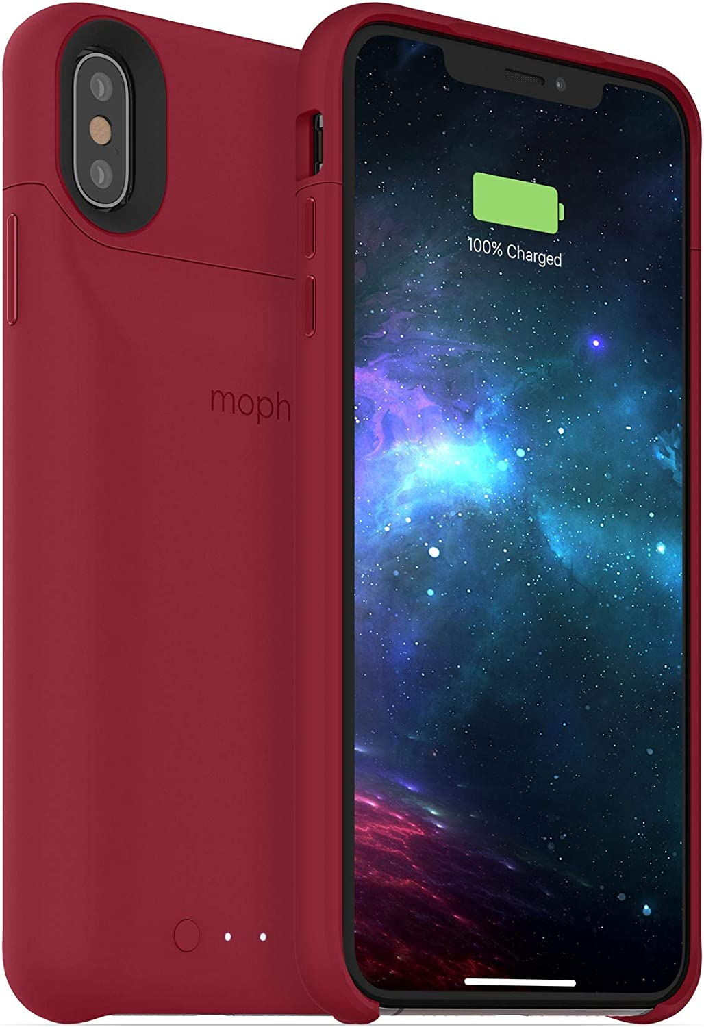 Mophie 401002838 Juice Pack Access - Ultra-Slim Wireless Battery Case - Made for Apple iPhone Xs Max (2,200mAh) - Dark Red