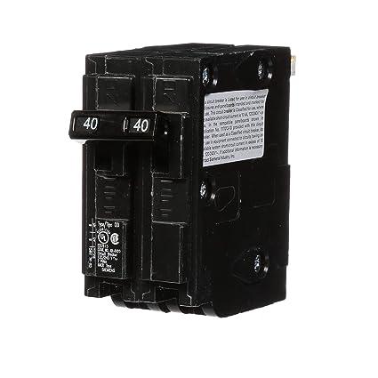 Siemens D240 Circuit Breaker, QO Replacement, 40 Amp, Double Pole