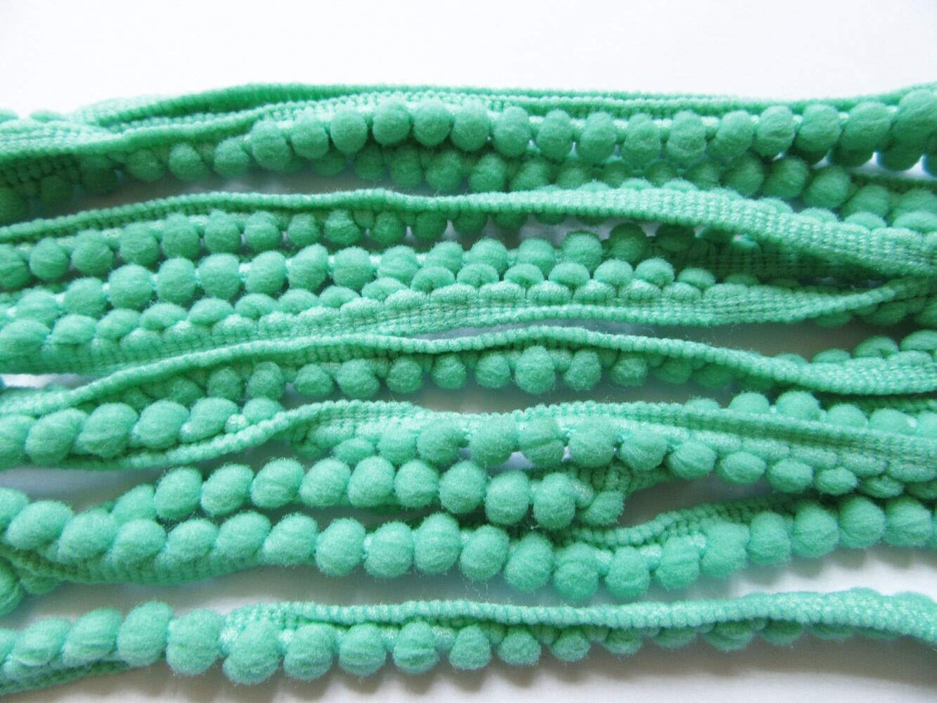 YYCRAFT 10 Yards 3//8 Wide Tiny Pom Pom Ball Fringe Trim DIY Craft Sewing Accessory for Home Curtain Clothes Pillow Decoration pom Size 5mm Jade