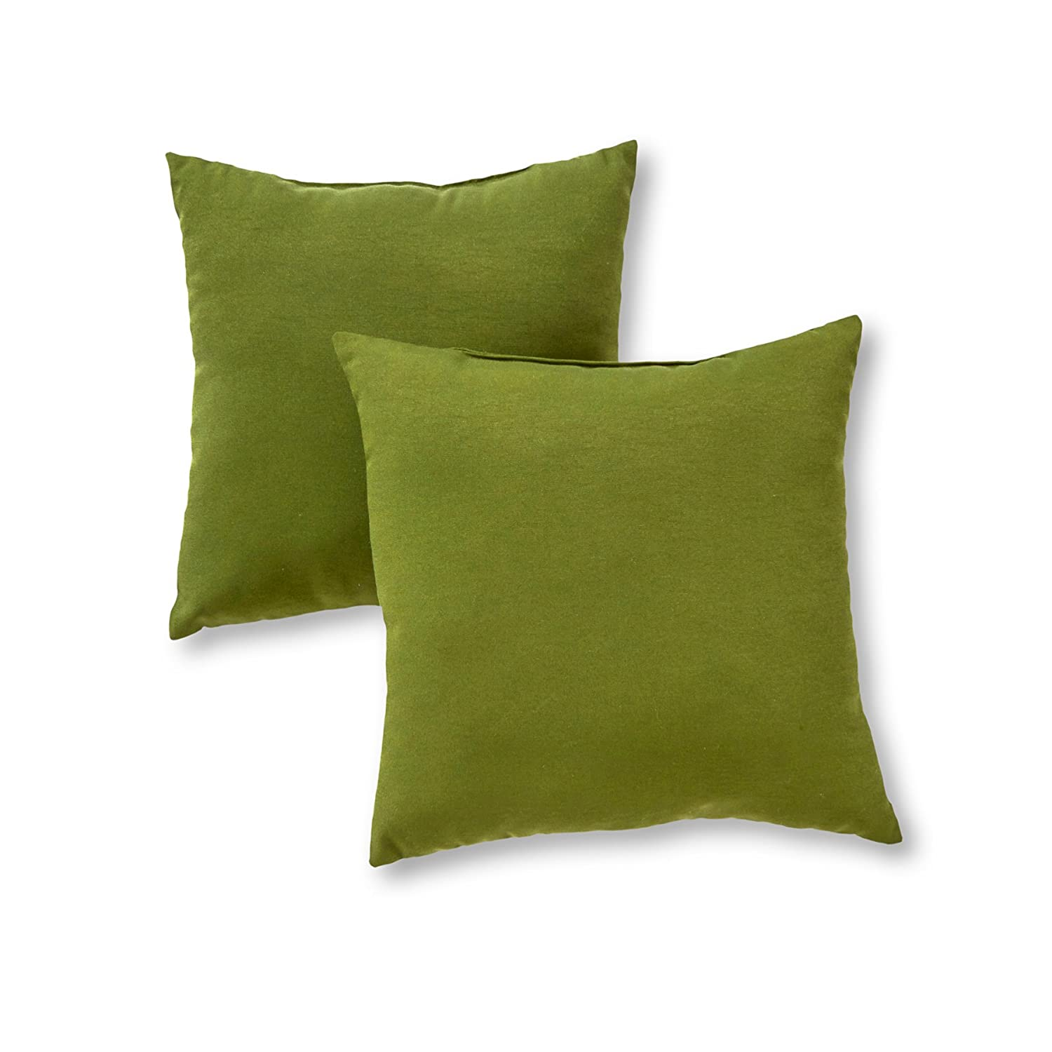 Greendale Home Fashions OC4803S2-Summerside Indoor/Outdoor Accent Pillows, Summerside Green, Set of 2