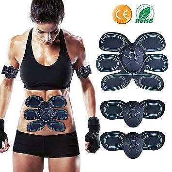 Electroestimulador Muscular Abdominales Cinturón, Masajeador Eléctrico Cinturón,Ejercitador del Cuerpo para el Entrenamiento de