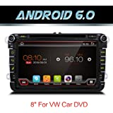 Android 6.0 Quad Core Wifi model car dvd player gps 2 Din 8 Inch For Volkswagen VW Skoda POLO PASSAT B6 CC TIGUAN GOLF 5 Fabia Support Mirror Link/OBD2/Subwoofer/Bluetooth