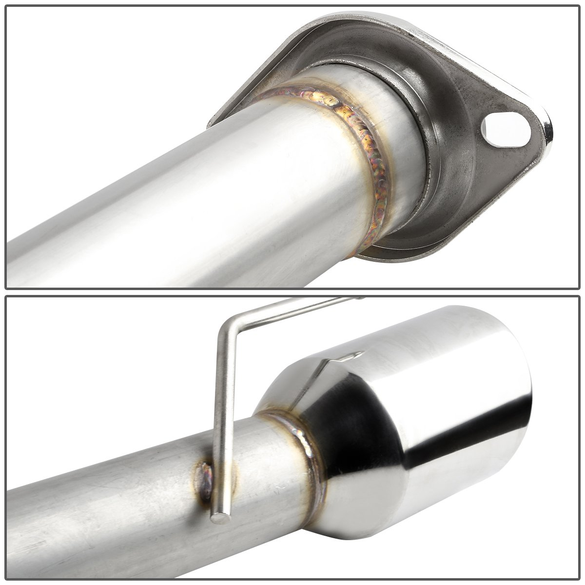 For Ford Mustang GT V8 SN95 Stainless Steel Dual 4 inches Rolled Tip Catback Exhaust System