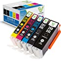 5-Pack Vaker Replacement Ink Cartridge for Canon Printers