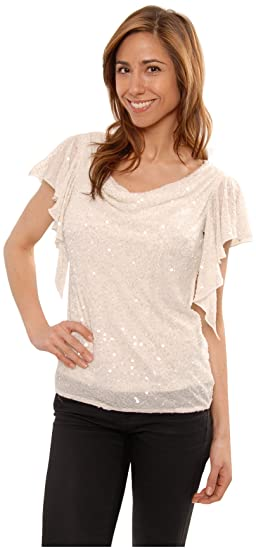 The Evening Store Great Sequin Beaded Pearled Top At Amazon