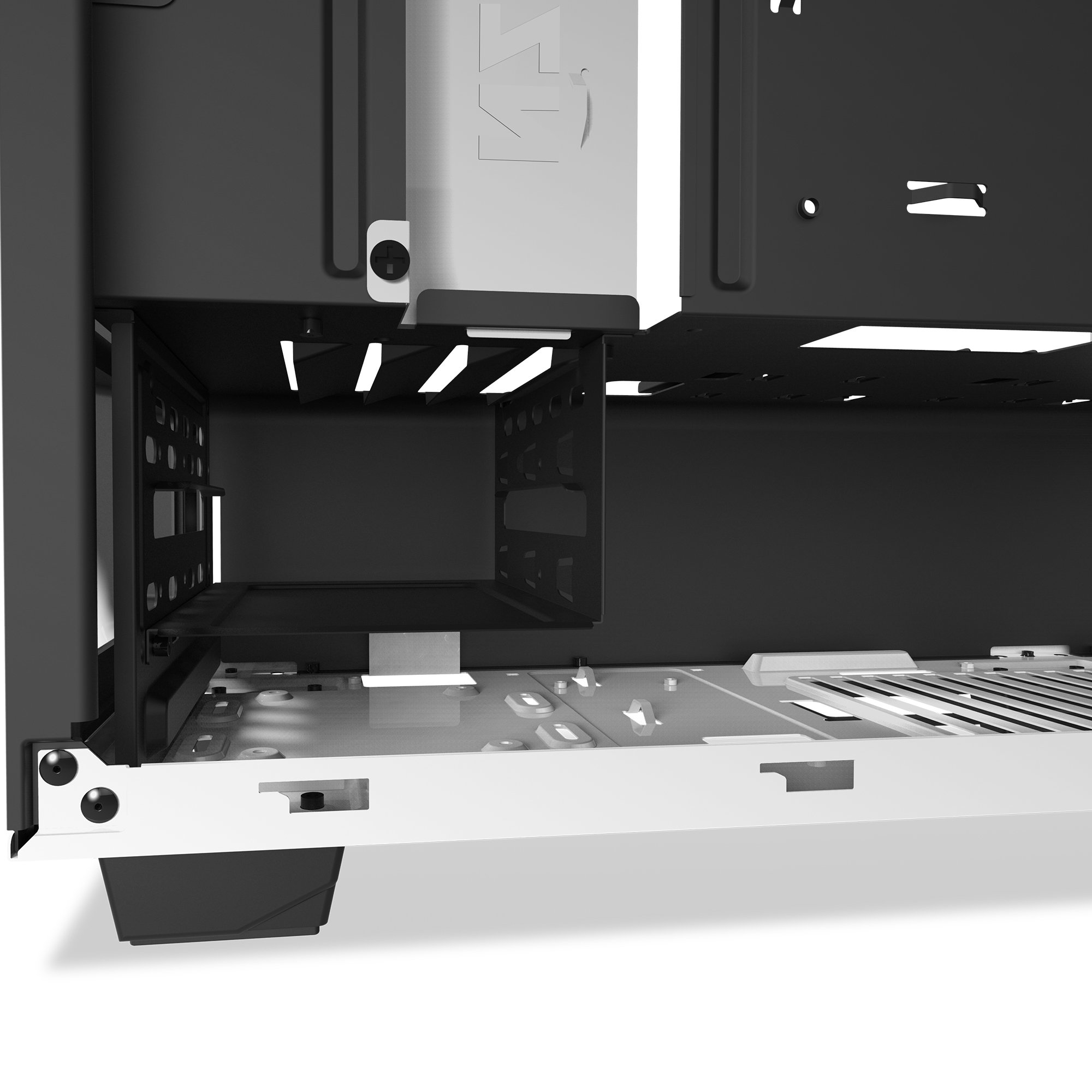 NZXT S340 Mid Tower Computer Case, White (CA-S340W-W1) by Nzxt (Image #5)