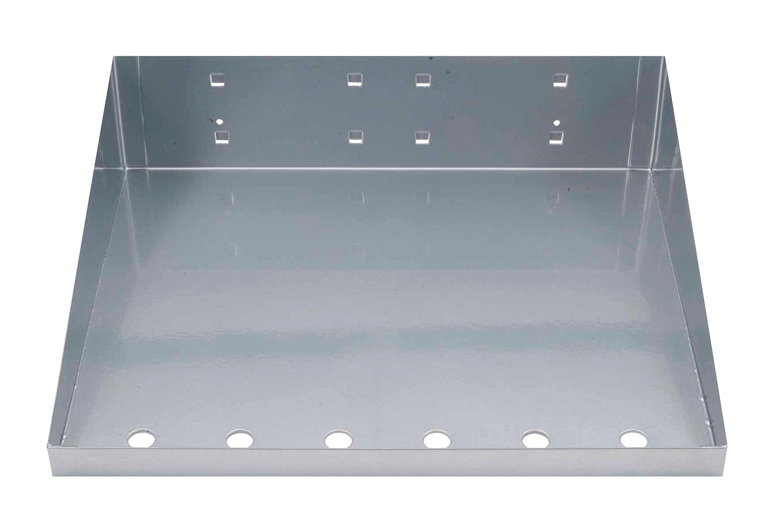 Locking Pegboard Hooks 56120-SLV LocHook Shelf with Garment Hanger, 12'' x 10'', Silver