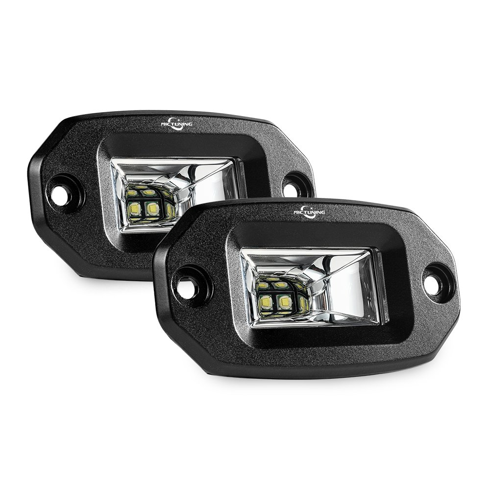 Amazon light bars accent off road lighting automotive mictuning flush mount led pods 2pcs 20w flood cree led light bar off road aloadofball Images