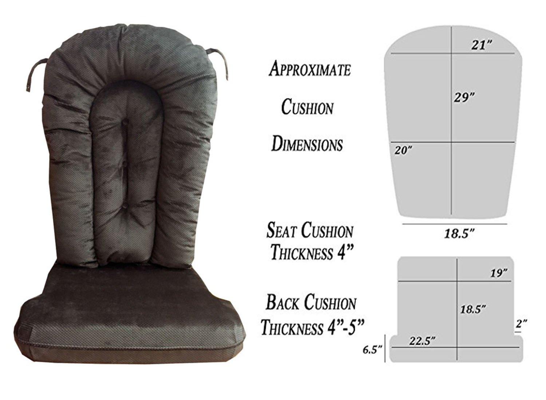 Glider Rocker Replacement Cushion Set, Performance Micro Denier Beluga Fabric by Replacement Cushion Set