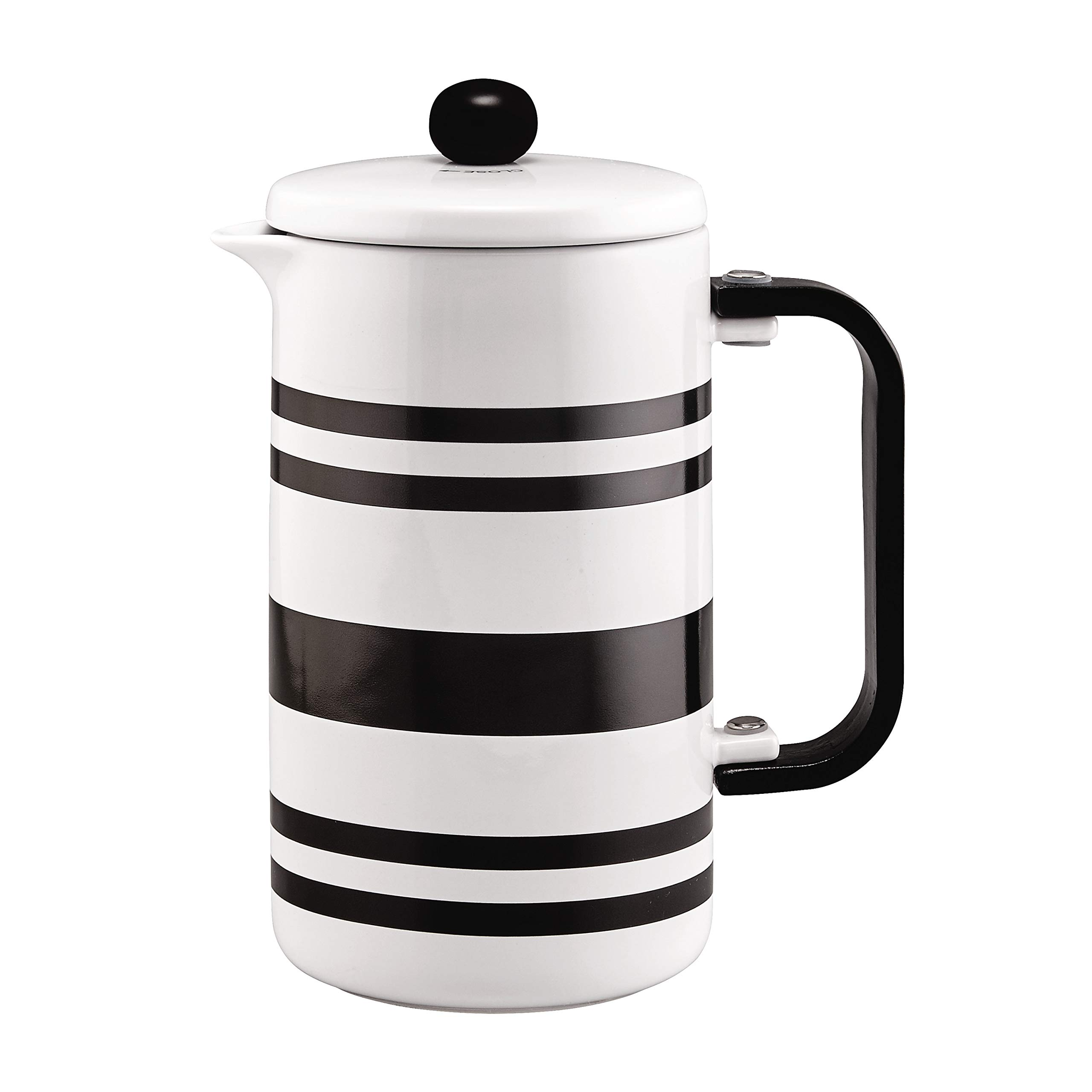 BonJour 47041 8-Cup Stoneware w/Decal French Press, Black