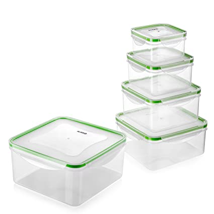 Amazoncom Food Storage Containers with Lids ALISKID 5 Pack
