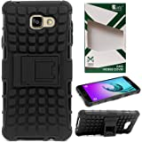 DMG Back Cover Case for Samsung Galaxy A7 2016 Edition, Rugged Back Kickstand Armor Case for Galaxy A7 2016 (Black)