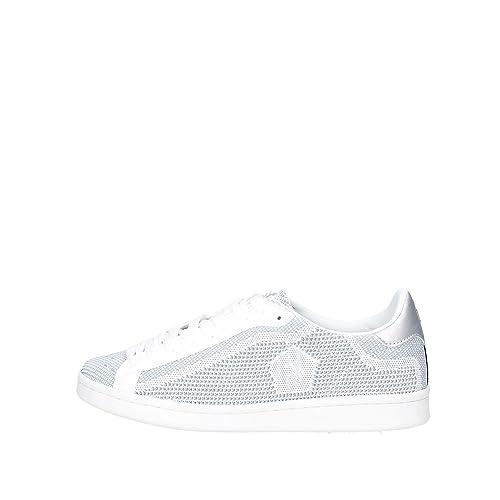 U.S.POLO ASSN. - Zapatillas de Tela para Mujer Blanco Blanco y ...